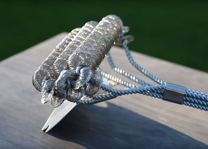 coil wire grill brush